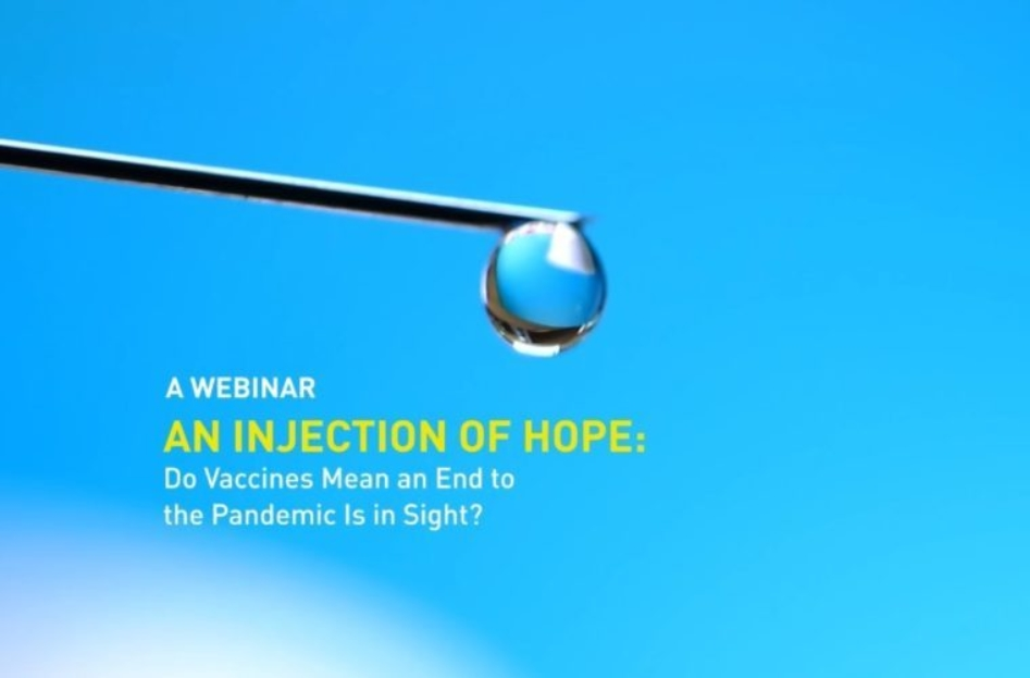 Education City Speaker Series: 'An Injection of Hope: Do Vaccines Mean an End to the Pandemic Is in Sight?'