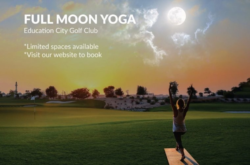 Full Moon Yoga at Education City Golf Club