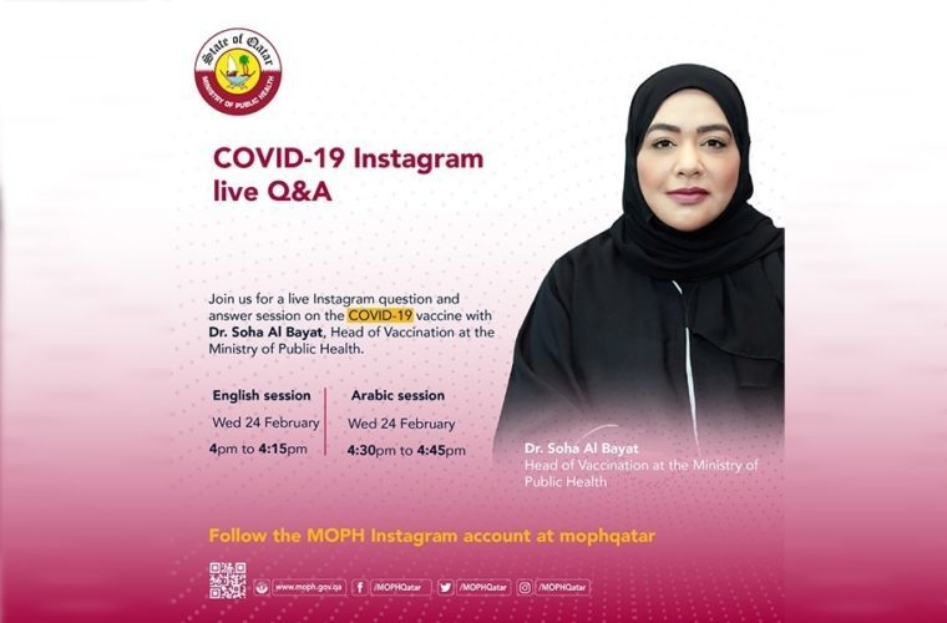 COVID-19 Q&A on Instagram live by MOPH