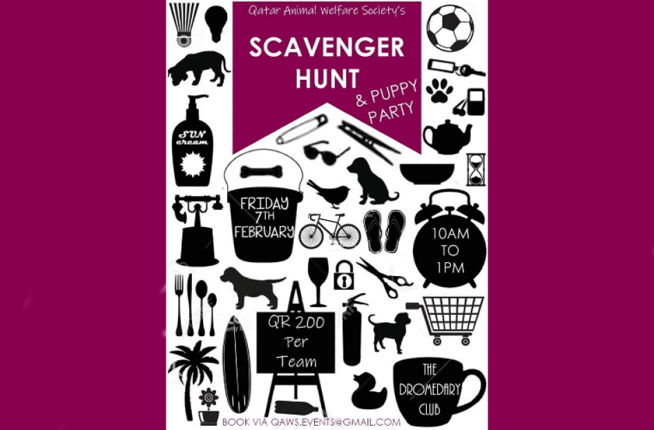 QAWS Scavenger Hunt & Puppy Party